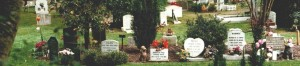Pet Cemetery showing Cremation Plot Memorials