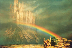 The Rainbow Bridge in Richard Wagner's Das Rheingold, directed by Otto Schenk (1990)
