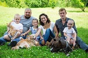A family with their pets - an important factor for pet cremation services