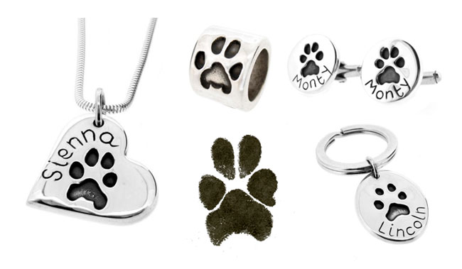 Silvertips jewellery made from paw prints