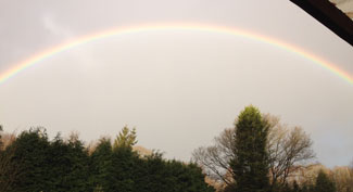 Rainbow over Chestnut Lodge Pet Crematorium