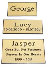 engraved plates with inscriptions