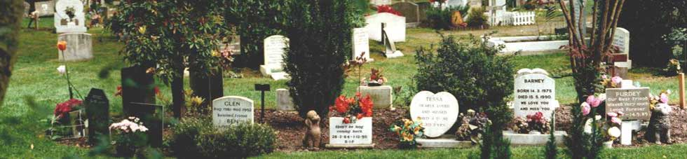 Ashes Burial Plots in the Pet Cemetery