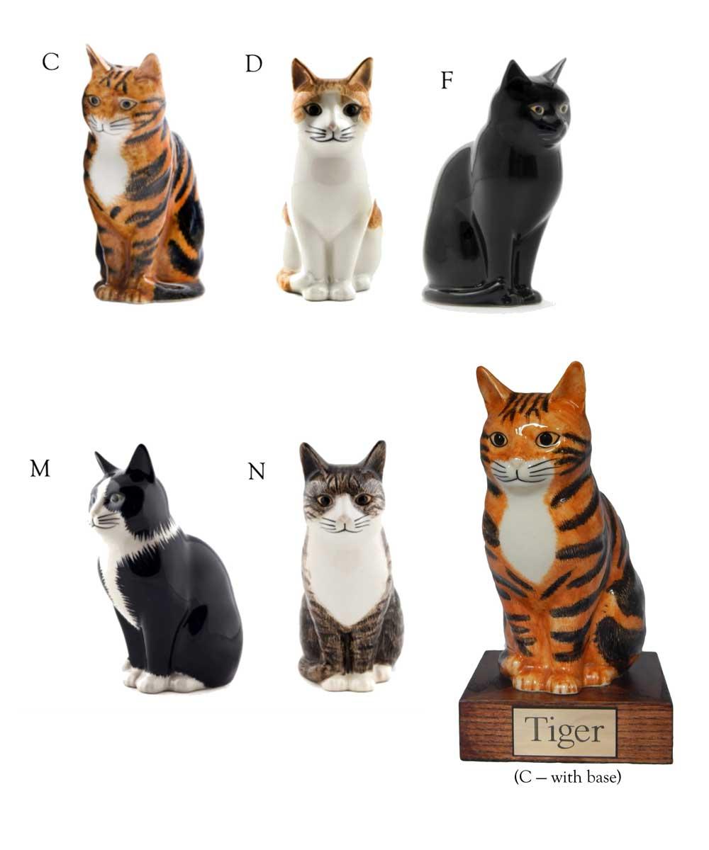 Option 15 - Porcelain Cat figurine urns
