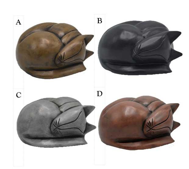 option 18 resin sleeping cat urn
